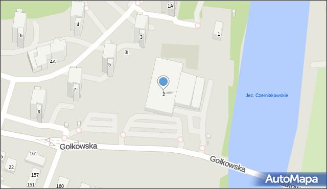 Warszawa, Gołkowska, 2, mapa Warszawy