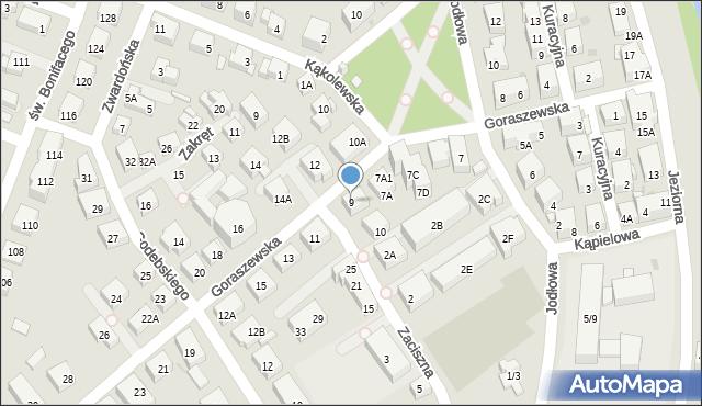 Warszawa, Goraszewska, 9, mapa Warszawy
