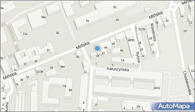 Warszawa, Gocławska, 16, mapa Warszawy