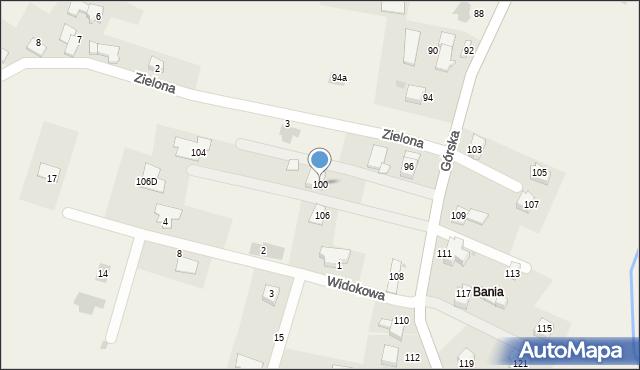 Wieprz, Górska, 100, mapa Wieprz