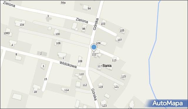 Wieprz, Górska, 111, mapa Wieprz