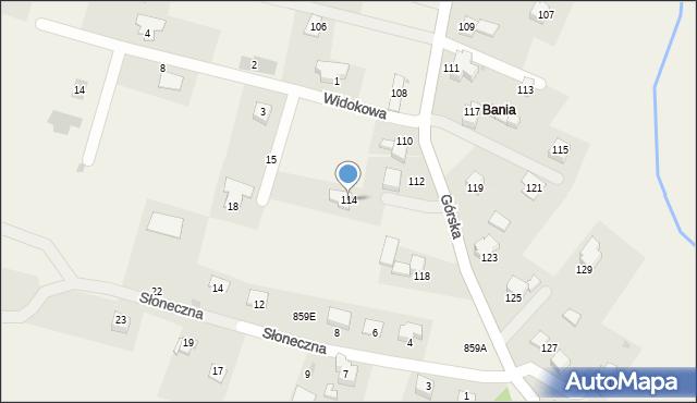 Wieprz, Górska, 114, mapa Wieprz