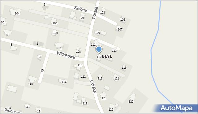 Wieprz, Górska, 117, mapa Wieprz