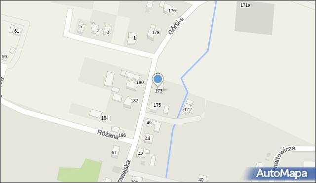 Wieprz, Górska, 173, mapa Wieprz
