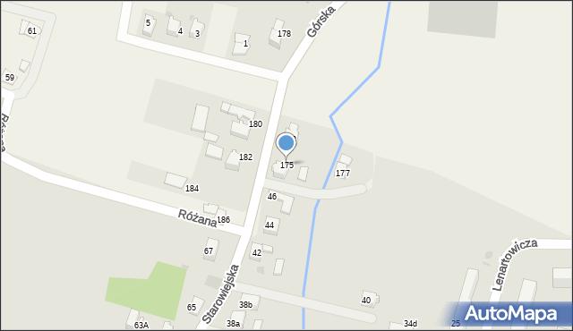 Wieprz, Górska, 175, mapa Wieprz