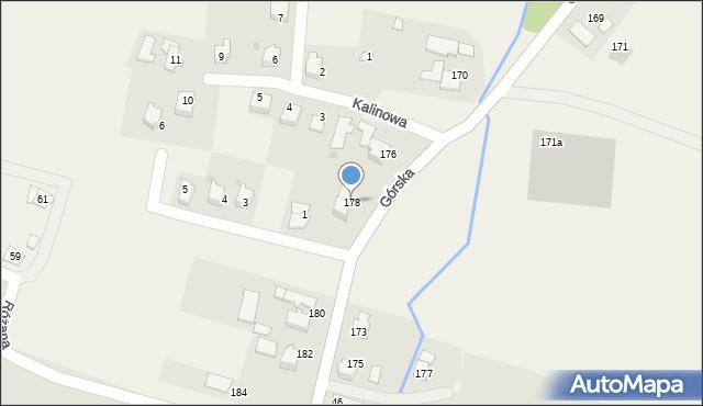 Wieprz, Górska, 178, mapa Wieprz