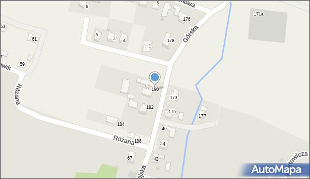 Wieprz, Górska, 180, mapa Wieprz