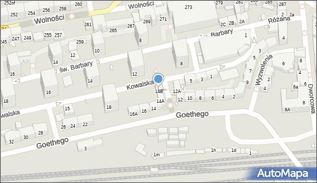 Zabrze, Goethego Johanna, 14B, mapa Zabrza