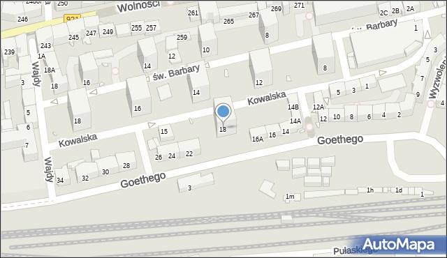 Zabrze, Goethego Johanna, 18, mapa Zabrza