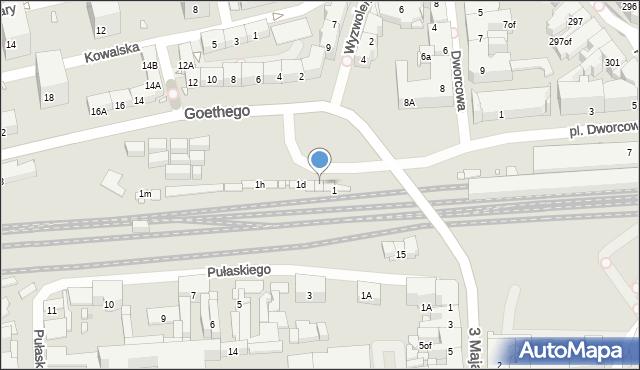 Zabrze, Goethego Johanna, 1b, mapa Zabrza