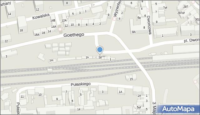 Zabrze, Goethego Johanna, 1d, mapa Zabrza