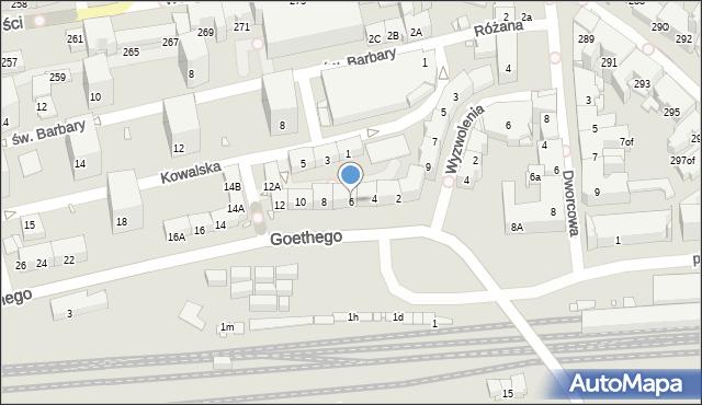 Zabrze, Goethego Johanna, 6, mapa Zabrza