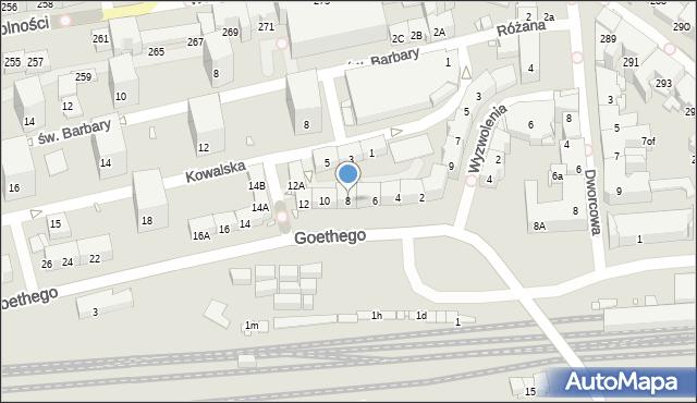 Zabrze, Goethego Johanna, 8, mapa Zabrza