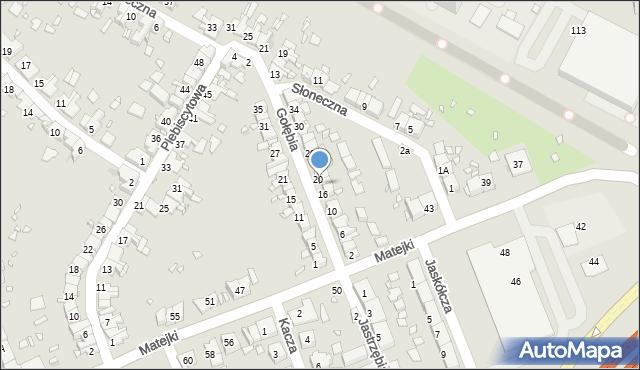Zabrze, Gołębia, 18, mapa Zabrza