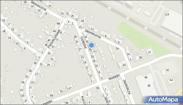 Zabrze, Gołębia, 24, mapa Zabrza