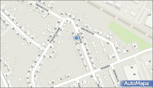 Zabrze, Gołębia, 27, mapa Zabrza