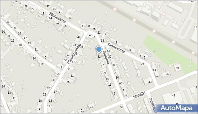 Zabrze, Gołębia, 31, mapa Zabrza