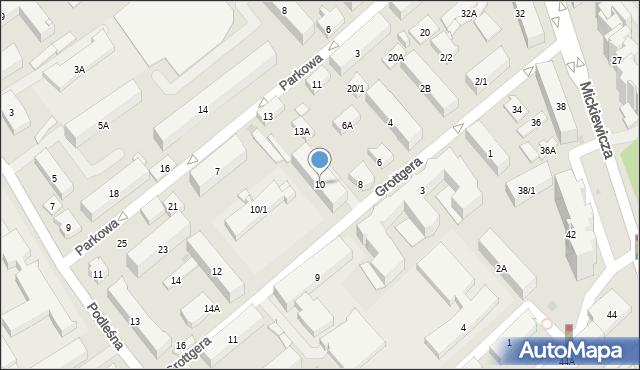 Białystok, Grottgera Artura, 10, mapa Białegostoku