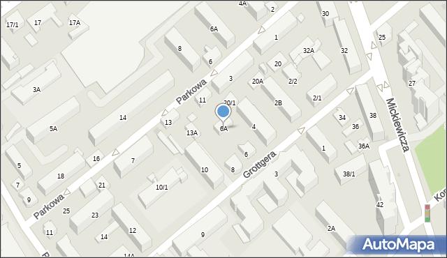 Białystok, Grottgera Artura, 6A, mapa Białegostoku