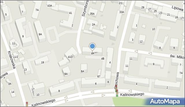 Białystok, Grochowa, 4A, mapa Białegostoku