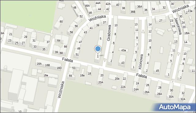 Bytom, Grabowa, 1, mapa Bytomia