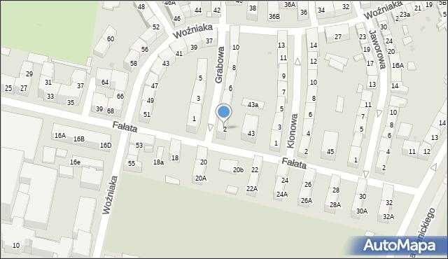 Bytom, Grabowa, 2, mapa Bytomia