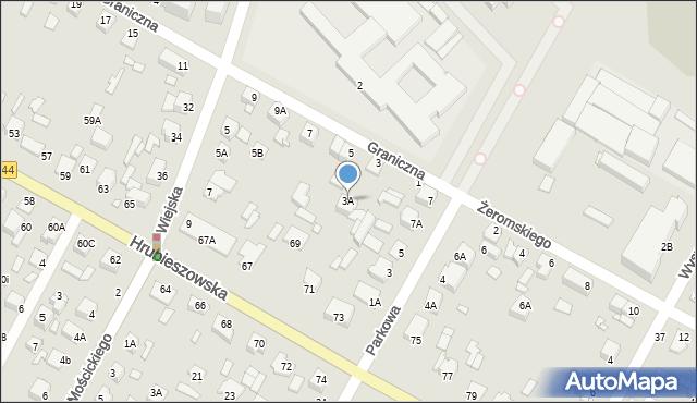 Chełm, Graniczna, 3A, mapa Chełma