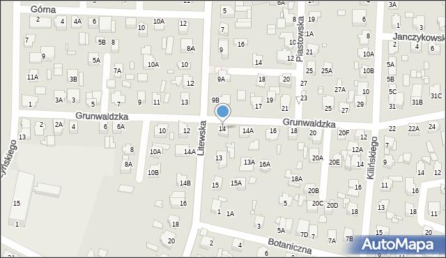 Chełm, Grunwaldzka, 14, mapa Chełma