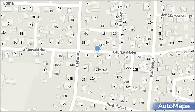 Chełm, Grunwaldzka, 14A, mapa Chełma