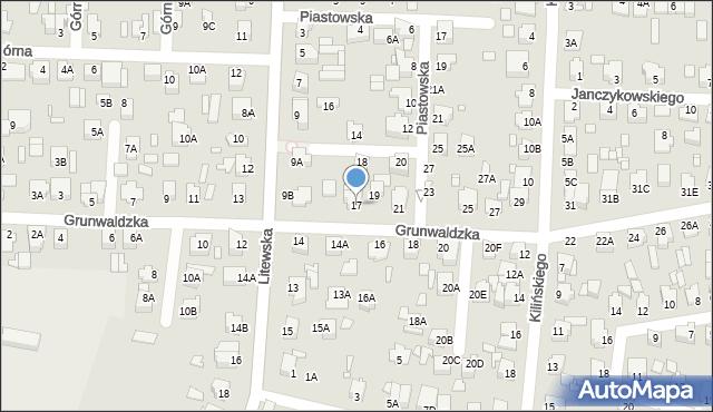 Chełm, Grunwaldzka, 17, mapa Chełma