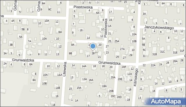 Chełm, Grunwaldzka, 19, mapa Chełma