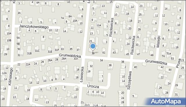 Chełm, Grunwaldzka, 39, mapa Chełma