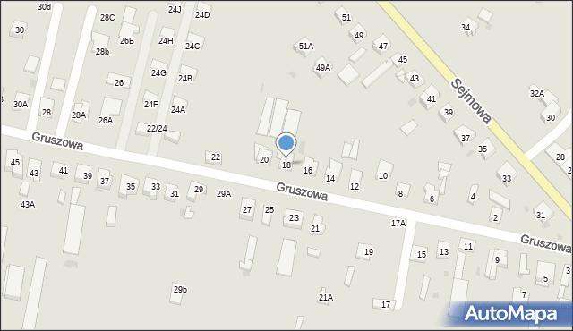 Częstochowa, Gruszowa, 18, mapa Częstochowy