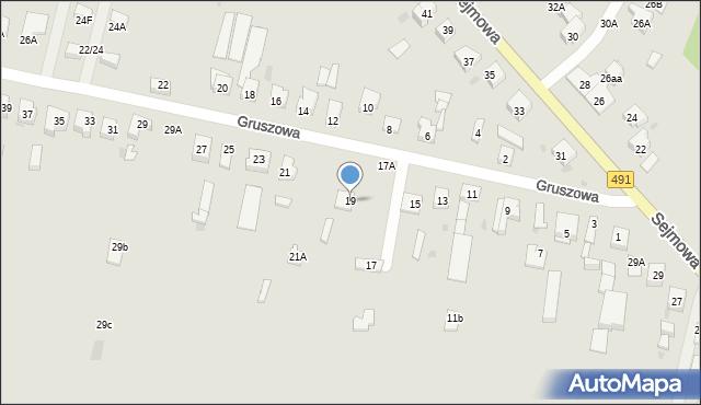 Częstochowa, Gruszowa, 19, mapa Częstochowy