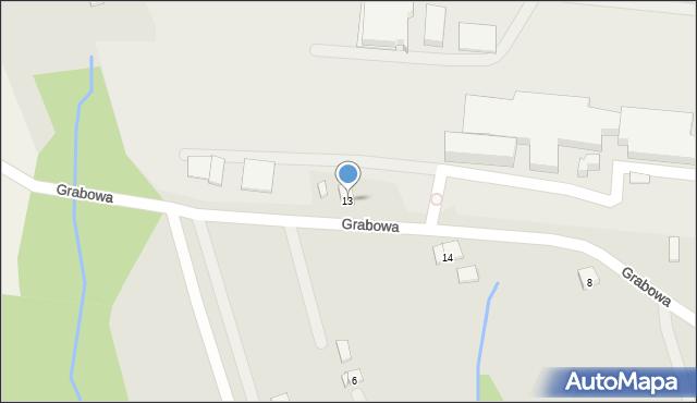 Dobczyce, Grabowa, 13, mapa Dobczyce