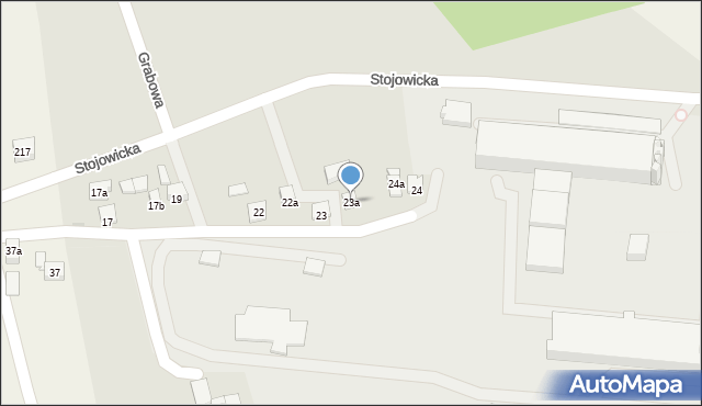 Dobczyce, Grabowa, 23a, mapa Dobczyce