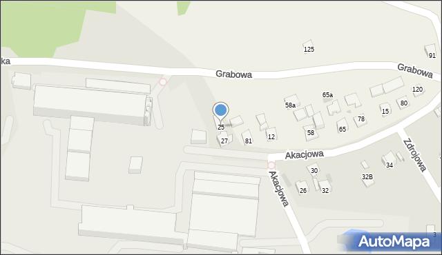 Dobczyce, Grabowa, 25, mapa Dobczyce