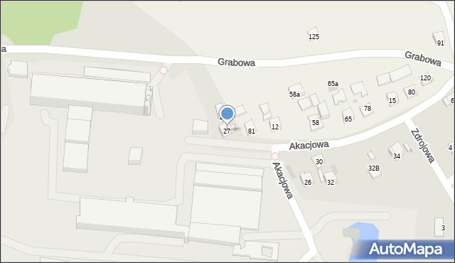 Dobczyce, Grabowa, 27, mapa Dobczyce