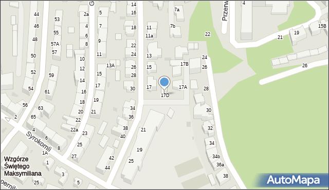 Gdynia, Grottgera Artura, 17D, mapa Gdyni