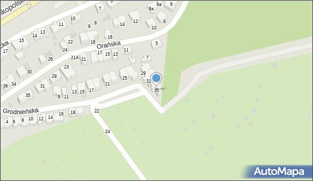 Gdynia, Grodnieńska, 35, mapa Gdyni