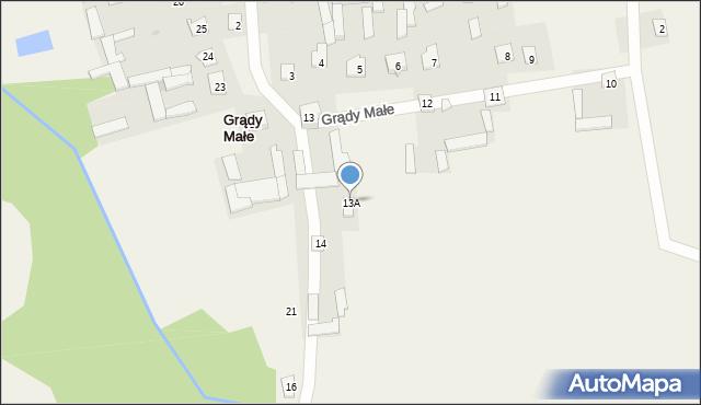 Grądy Małe, Grądy Małe, 13A, mapa Grądy Małe