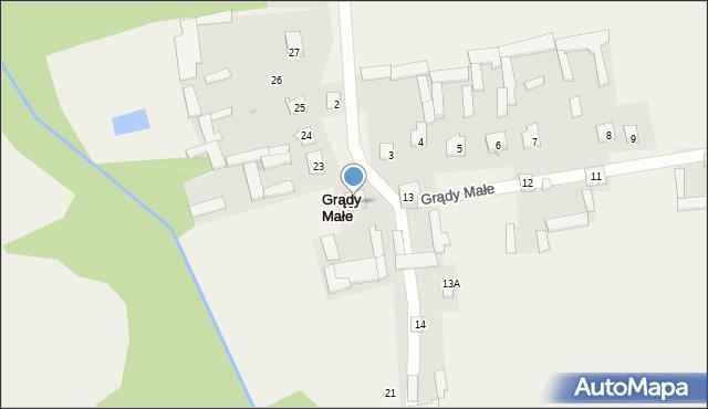 Grądy Małe, Grądy Małe, 22, mapa Grądy Małe