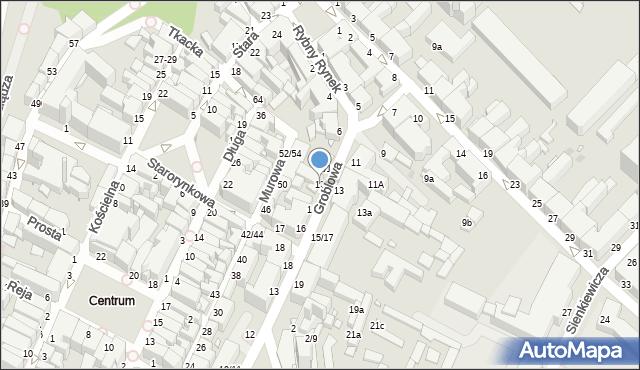 Grudziądz, Groblowa, 12, mapa Grudziądza