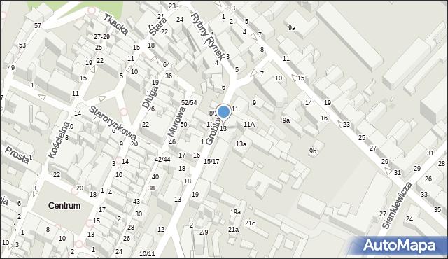 Grudziądz, Groblowa, 13, mapa Grudziądza