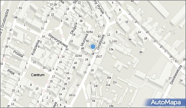 Grudziądz, Groblowa, 16, mapa Grudziądza