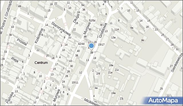 Grudziądz, Groblowa, 18, mapa Grudziądza
