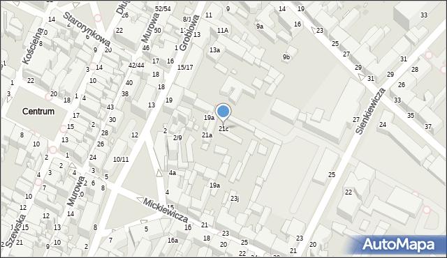Grudziądz, Groblowa, 21c, mapa Grudziądza