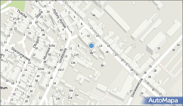 Grudziądz, Groblowa, 9a, mapa Grudziądza
