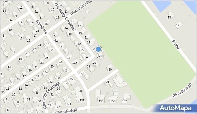 Grudziądz, Gromady Grudziąż, 27, mapa Grudziądza