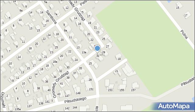 Grudziądz, Gromady Grudziąż, 31, mapa Grudziądza